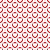 Fundo sem emenda do teste padrão do coração do dia do ` s do Valentim do vetor Fotografia de Stock