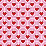 Fundo sem emenda do teste padrão do coração do dia do ` s do Valentim do vetor Imagem de Stock Royalty Free