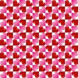 Fundo sem emenda do teste padrão do coração do dia do ` s do Valentim do vetor Imagem de Stock