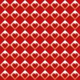 Fundo sem emenda do teste padrão do coração do dia do ` s do Valentim do vetor Fotos de Stock