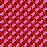 Fundo sem emenda do teste padrão do coração do dia do ` s do Valentim do vetor Foto de Stock