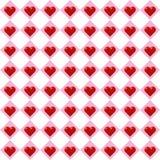 Fundo sem emenda do teste padrão do coração do dia do ` s do Valentim do vetor Fotografia de Stock Royalty Free