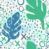 Fundo sem emenda do teste padrão criativo com elementos florais e texturas diferentes collage Projeto para o cartaz, cartão, conv ilustração do vetor