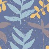 Fundo sem emenda do teste padrão criativo com elementos florais e texturas diferentes collage Projeto para o cartaz, cartão, conv ilustração royalty free