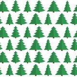 Fundo sem emenda do teste padrão da árvore lisa do Natal ilustração royalty free