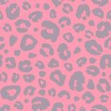 Fundo sem emenda do teste padrão da cópia da pele do leopardo Textura animal da camuflagem do sumário do ponto da pele Mão colori ilustração stock