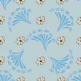 Fundo sem emenda do teste padrão da flor abstrata Textura Flor do vetor Imagem de Stock