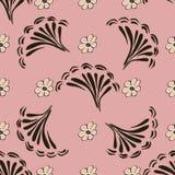 Fundo sem emenda do teste padrão da flor abstrata Textura Flor do vetor Fotografia de Stock Royalty Free