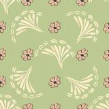 Fundo sem emenda do teste padrão da flor abstrata Textura Flor do vetor Imagens de Stock Royalty Free