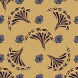 Fundo sem emenda do teste padrão da flor abstrata Textura Flor do vetor Fotos de Stock Royalty Free