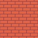 Fundo sem emenda do teste padrão da parede de tijolo vermelho - vetor Ilustração do Vetor