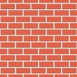Fundo sem emenda do teste padrão da parede de tijolo vermelho - vetor Ilustração Royalty Free
