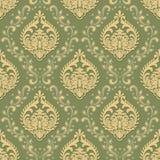 Fundo sem emenda do teste padrão do damasco volumétrico do vetor O luxo elegante gravou a textura para papéis de parede, fundos e ilustração stock