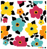 Fundo sem emenda do teste padrão de flor Imagens de Stock Royalty Free