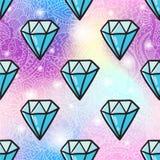 Fundo sem emenda do teste padrão do diamante ilustração royalty free