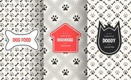 Fundo sem emenda do teste padrão do cão Ilustração do vetor para o projeto animal do animal de estimação ilustração royalty free