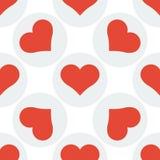 Fundo sem emenda do teste padrão do coração Imagem de Stock Royalty Free