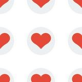 Fundo sem emenda do teste padrão do coração Foto de Stock Royalty Free