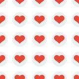 Fundo sem emenda do teste padrão do coração Foto de Stock