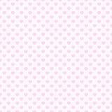 Fundo sem emenda do teste padrão do coração cor-de-rosa Imagens de Stock Royalty Free