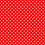 Fundo sem emenda do teste padrão do coração vermelho Foto de Stock Royalty Free