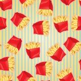 Fundo sem emenda do teste padrão do fast food Imagens de Stock Royalty Free