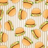 Fundo sem emenda do teste padrão do fast food Fotografia de Stock Royalty Free