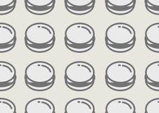 Fundo sem emenda do teste padrão do Hamburger linear Foto de Stock Royalty Free