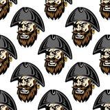 Fundo sem emenda do teste padrão do pirata dos desenhos animados Imagens de Stock Royalty Free