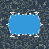 Fundo sem emenda do teste padrão do vintage azul Projeto infinito da ilustração do vetor Frame geométrico abstrato stylish ilustração do vetor