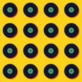 Fundo sem emenda do teste padrão do vintage retro da música do vinil Fotografia de Stock