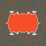 Fundo sem emenda do teste padrão do vintage vermelho Projeto infinito da ilustração do vetor Frame geométrico abstrato stylish ilustração royalty free