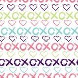 Fundo sem emenda do teste padrão dos abraços e dos beijos ilustração royalty free