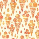 Fundo sem emenda do teste padrão dos cones de gelado do verão Fotografia de Stock Royalty Free