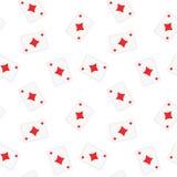 Fundo sem emenda do teste padrão dos diamantes dos cartões de jogo Foto de Stock Royalty Free