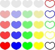 Fundo sem emenda do teste padrão dos doces coloridos do coração Ajuste dos doces da conversação para o dia de Valentim ilustração royalty free