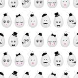 Fundo sem emenda do teste padrão dos ovos da páscoa Ilustração Stock