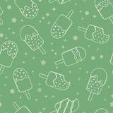Fundo sem emenda do teste padrão do gelado do picolé da hortelã do divertimento, o feliz e o fresco da repetição com as estrelas  ilustração royalty free