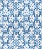 Fundo sem emenda do teste padrão geométrico abstrato do papel de parede do vintage Ilustração do vetor Cores azuis e brancas Foto de Stock Royalty Free