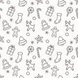 Fundo sem emenda do teste padrão do Natal e do ano novo Ilustração do vetor Foto de Stock Royalty Free