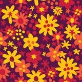 Fundo sem emenda do teste padrão do vetor com cores do outono Estilo liso mínimo na moda da ilustração ilustração stock