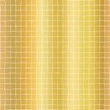 Fundo sem emenda do teste padrão do vetor da grade geométrica da folha de ouro Formas brilhantes douradas do quadrado da quadricu ilustração stock