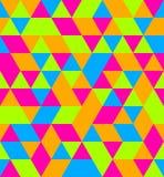 Fundo sem emenda do triângulo lateral igual do néon Imagens de Stock