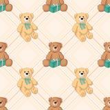 Fundo sem emenda do urso de peluche Fotografia de Stock Royalty Free