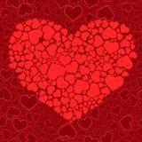 Fundo sem emenda do Valentim Foto de Stock
