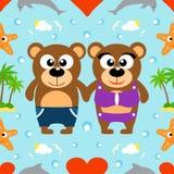 Fundo sem emenda do verão romântico Imagens de Stock Royalty Free