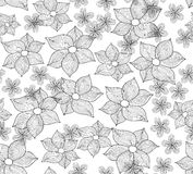 Fundo sem emenda do vetor bonito com flores do lírio Imagem de Stock