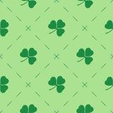 Fundo sem emenda do vetor do dia de St Patrick Fotos de Stock Royalty Free