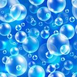 Fundo sem emenda do vetor do elemento quadrado, teste padrão abstrato com bolhas de ar Imagem de Stock