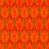 Fundo sem emenda do vetor do sumário do teste padrão da tulipa no projeto vermelho Imagens de Stock Royalty Free